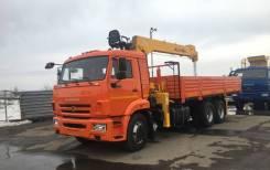 КМУ КАМАЗ 65115-50 (Евро-5) + SOOSAN SCS746L борт сталь 6.6м, 2021