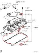 Комплект прокладок крышки клапанов Mitsubishi Sport
