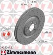 Тормозной диск Zimmermann 290.2264.52 Jaguar: C2C25337 T2R5939 Jaguar F-Type Кабрио (Qq6_). Jaguar F-Type Купе (Qq6_). Jaguar S-Type (Ccx). Jaguar