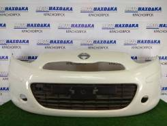 Бампер Nissan March 2010-2013 [620221HC0H] K13 HR12DE, передний