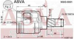 Шрус внутренний LH Nissan Maxima Cefiro A32 33 Teana J31 Serena C24
