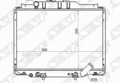 Радиатор Mitsubishi Delica L300 89-99 4D56 Diesel SAT MC0005L300D3R