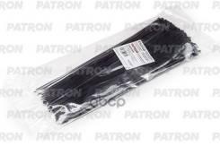 Комплект Пластиковых Хомутов 3.6 Х 300 Мм, 100 Шт, Нейлон, Черные Patron арт. P36300B