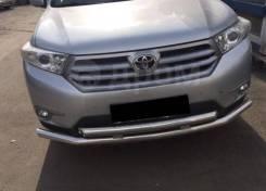 Защита бампера перед. двойная с защитой Toyota Highlander 2007-2012