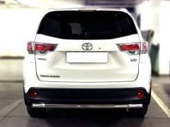 Защита заднего бампера радиусная одинарная Toyota Highlander 2017+