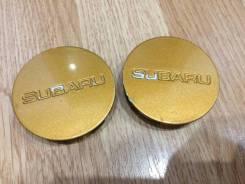 Два центральных колпачка на оригинальные литые диски Subaru