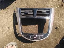 Рамка магнитолы Hyundai Solaris 2013 [847404L200RAT] Хэтчбэк G4FA