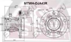 Ступица колеса задняя Mtwhdja43R (ASVA — КНР)