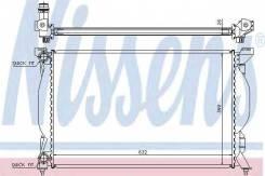 Радиатор охлаждения двигателя 60304A (Nissens — Дания)