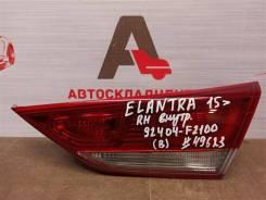 Фонарь правый - вставка в дверь / крышку багажника Hyundai Elantra (2015-2020) 2015-2019 [92404F2100]