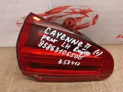 Фонарь левый - вставка в дверь / крышку багажника Porsche Cayenne (2010-2018) 2014-2018 [95863106500]