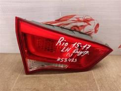 Фонарь левый - вставка в дверь / крышку багажника Kia Rio (2011-2017) 2015-2017 [924034X500]