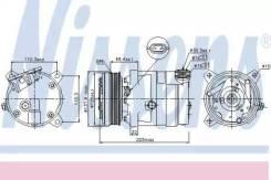 Компрессор кондиционера 89058 (Nissens — Дания)