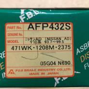 Колодки тормозные дисковые передние FBL AFP-432S комплект