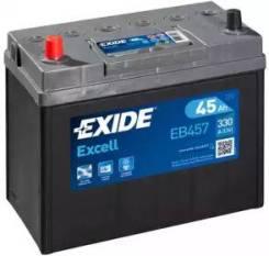 Аккумуляторная батарея Excell [12V 45Ah 300A B0] EB457 (Exide — США)