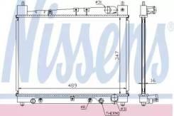 Радиатор охлаждения двигателя 64799 (Nissens — Дания)