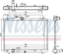 Радиатор охлаждения двигателя 69400 (Nissens — Дания)