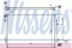 Радиатор охлаждения двигателя 65291A (Nissens — Дания)