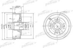 Тормозной барабан PDR1146 (Patron — Беларусь Республика)