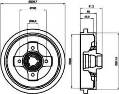 Тормозной барабан 8DT355301701 (Hella Pagid — Германия)