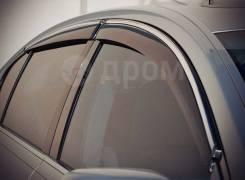 Дефлекторы окон (ветровики) оригинальные хром Honda CR-V 2007-2011