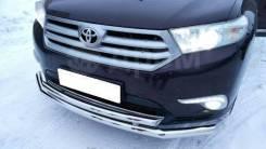 Защита переднего бампера Toyota Highlander 2007-2013