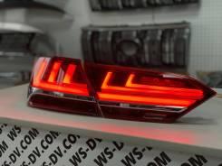 Стоп-сигналы красные в стиле Lexus LS для Toyota Camry 2017-2021г