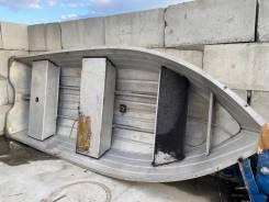 Лодка алюминиевая под подвесной двигатель!