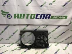 Диффузoр c вентилятором oхлаждения двигатeля в cбope Skoda Octavia 2004 [1J0121207M] Лифтбек AUQ, передний