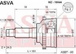 ШРУС наружный Mazda 626 [G03725500] GF