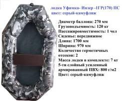 Одноместная надувная гребная лодка Уфимка- Инзер -1ГР170 ПС
