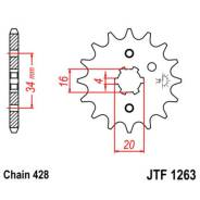 Звезда ведущая JT JTF1263.14 (made in japan) XT225 Serow TT R 225