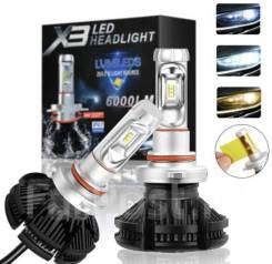 Лампы светодиодные H11/H8/H9 12V 8000K/6500K/3000K LEDHeadlight 6000LM