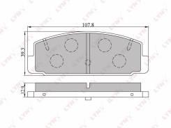 Колодки тормозные задние Mazda 323 01-04/626 2.0 97-02/Premacy 99>