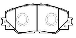 Колодки тормозные дисковые передние Toyota RAV IV 2.0VVT-i/2.2D-4D 06>