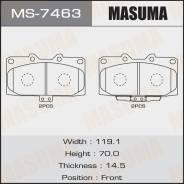 Колодки тормозные дисковые Masuma MS-7463 rear