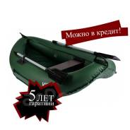 Лодка ПВХ надувная гребная Юнга 200N (зеленый)