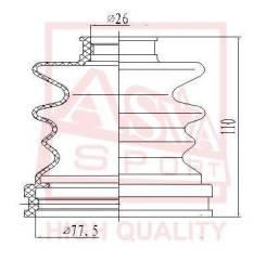 Пыльник ШРУСа (комплект без смазки) Asva ASBT12