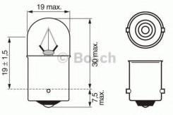 Лампа R10W 24V 10W Trucklight Bosch 1987302505