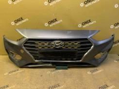 Бампер передний с Решеткой радиатора Hyundai Solaris [86511H5000]