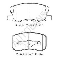 Колодки тормозные передние Mitsubishi Colt [D6121, MZ690188, AY040MT023, MN116151]