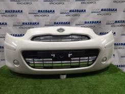 Бампер Nissan March 2010-2013 [620221HJ0H] K13 HR12DE, передний