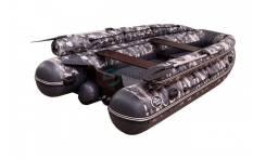 Лодка моторная ПВХ Allaska-390 Drive LUX Камуфляж (Серый)