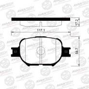 Колодки тормозные дисковые Avantech AV821