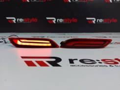Катафоты Toyota Camry(XV70) 2017-н/в неоновые красные комплект.
