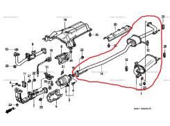 Глушитель Honda Accord Torneo Isuzu Aska '97-'02 Новый