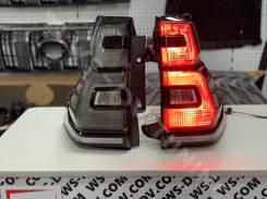 Стоп-сигналы дымчатые в стиле 2020 для Land Cruiser Prado 2009-2017