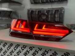 Стоп-сигналы красные в стиле Lexus LS для Camry 2017-2021
