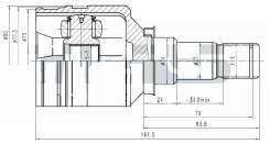 ШРУС Внутренний LH / RH Корея Corolla EL4# / NZE121 / NZT240