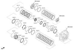 Комплект фрикционных дисков акпп (7 шт) Hyundai-KIA 456493B021